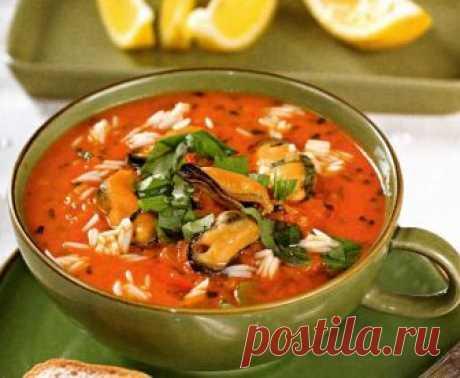 Для гурманов… Томатный суп с мидиями — Готовим дома