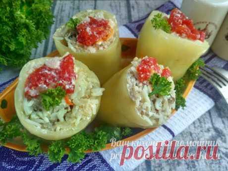 Перец фаршированный мясом и рисом, рецепт с фото в мультиварке