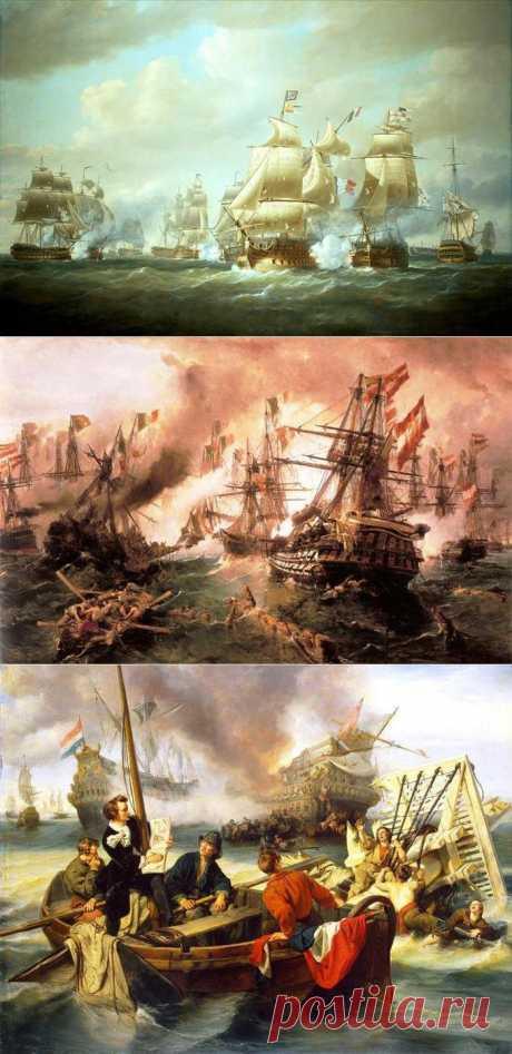 (+1) тема - Морские сражения на полотнах художников. | Искусство