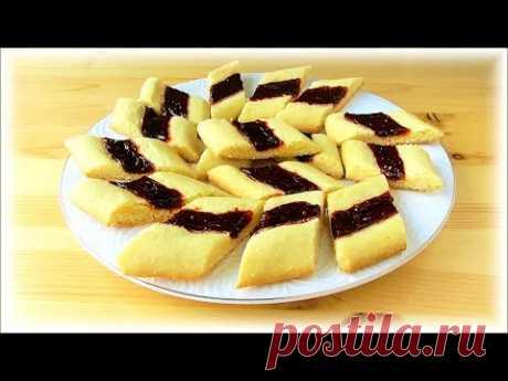 Печенье с вареньем! Самый простой, быстрый и вкусный рецепт