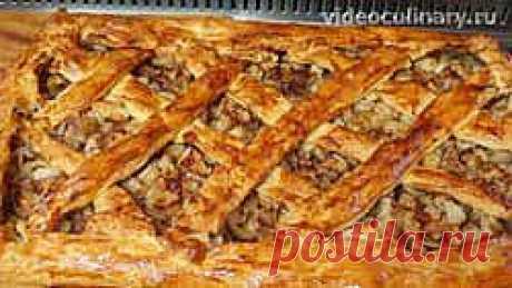 Яблочный пирог из слоёного теста - Видеокулинария.рф - видео-рецепты Бабушки Эммы