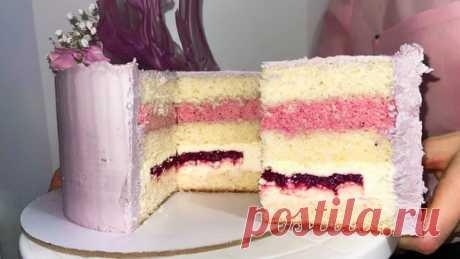 НЕЖНЕЙШИЙ ТОРТ. Рецепт пышного бисквита и нежной начинки торта  Слушаем в нашем новом подкасте   Ингредиенты: Бисквит Показать полностью...
