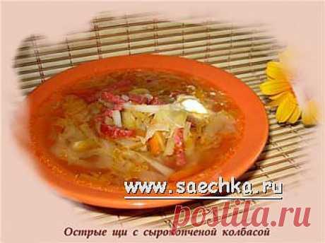 Острые щи с сырокопченой колбасой в скороварке | Saechka.Ru - рецепты с фото