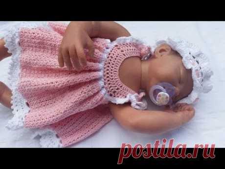 Goldfaden Мастер класс вязание Сарафанчик для малышки 0-3 - YouTube