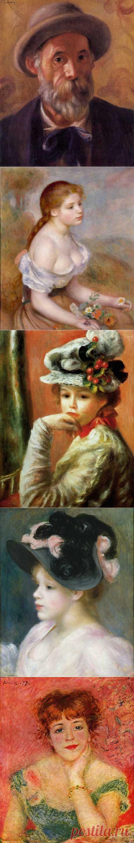 Пьер Огюст Ренуар (1841 - 1919) - французский живописец-импрессионист, график и скульптор. | Женские и детские портреты. (часть-2).