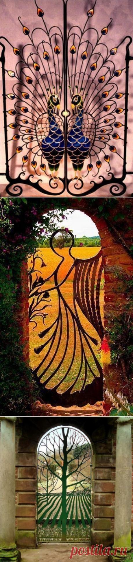 Красивые кованые ворота со всего мира.