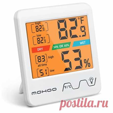 MOHOO Indoor Thermometer Hygrometer Digital Hygrometer Thermometer Temperature a - US$9.66