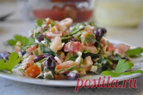 Салат с крабовыми палочками и фасолью — СОВЕТ !!!
