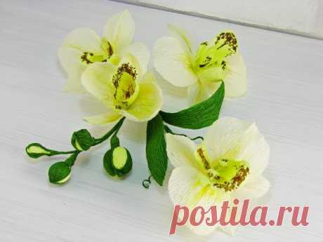 Мастер класс ОРХИДЕЯ из гофрированной бумаги Материалы и инструменты для создания орхидеи: