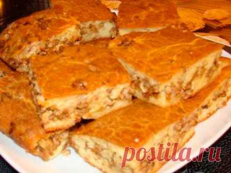 Пирог с картошкой и капустой  или только с капустой и грибами | Краше Всех