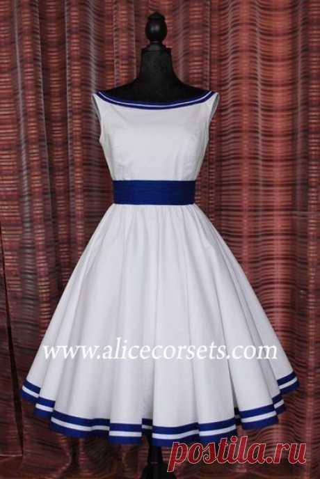 """Выкройка платья """"белая лодочка"""" / X-Style"""