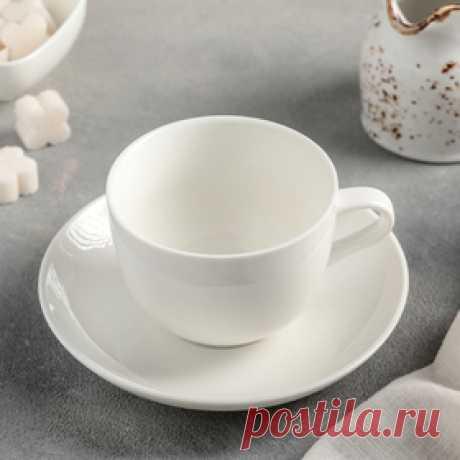 Чайная пара «Бланш»: чашка 200 мл, блюдце 14,5 см Цена: 175.00 руб. Закажите прямо сейчас!