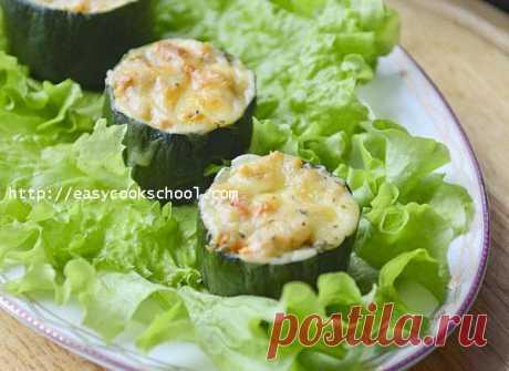 Фаршированные кабачки с фаршем запеченные в духовке: рецепт с фото | Легкие рецепты