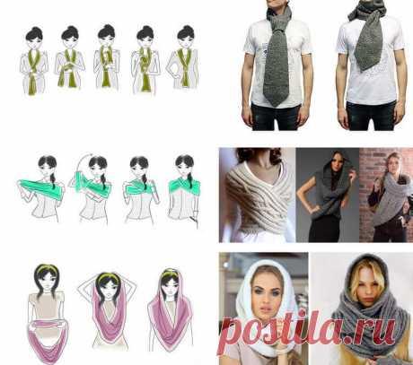 Как носить шарф, платок, тюрбан, снуд, палантин, косынку. Лучшие идеи, как для осени и для зимы…
