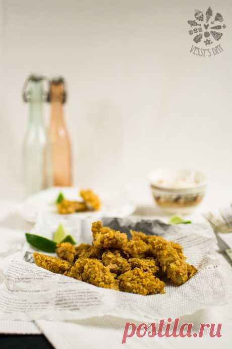Здравословни пилешки хапки в корнфлейкс | vessysday.com