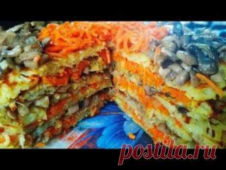 Картофельный торт с грибами и морковью на сковороде - запись пользователя Katerina (Катерина Михайленко) в сообществе Болталка в категории Кулинария