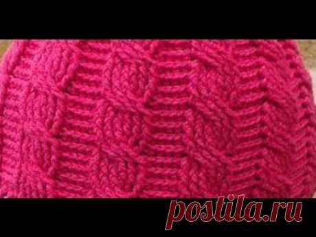 "Рельефный узор крючком-""Коса"" ( relief patterns crochet) (узор#19)"