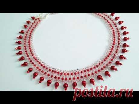 Necklace-tutorial. DIY. Красивое ожерелье. МК