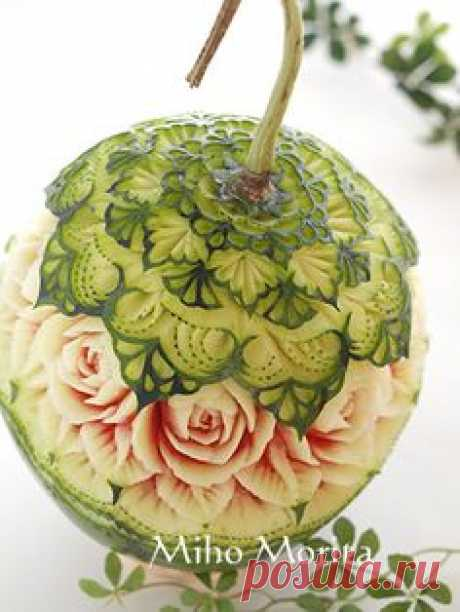 fruit carving Y soap carving art from Tokyo More