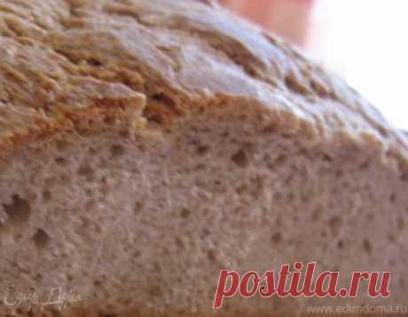 Хлеб по-деревенски (без дрожжей). Ингредиенты: ржаная мука, пшеничная мука, подсолнечное масло
