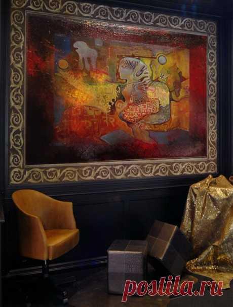 """Картина  Название: """" Адам и Ева """" размер: 230х130 см Материал: холст, масло Цена: 4000$"""