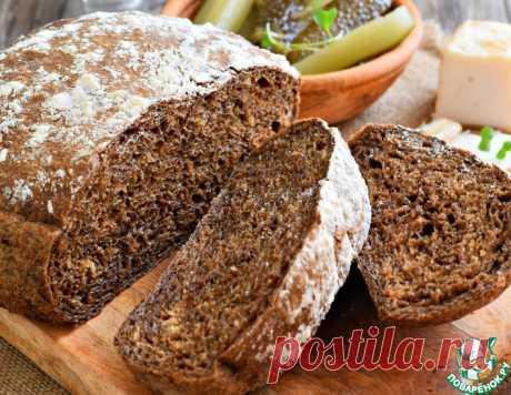 Домашний черный хлеб на солоде