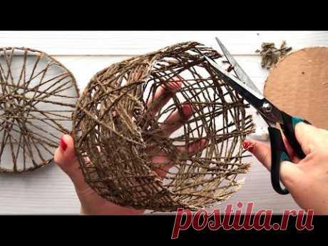 Идея плетеной корзины из джута своими руками   Идея джута
