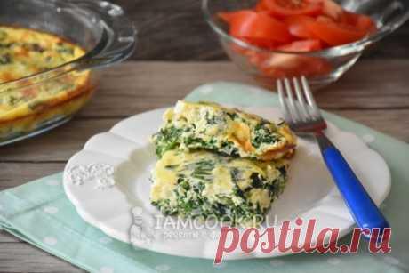 Фриттата со шпинатом и сыром