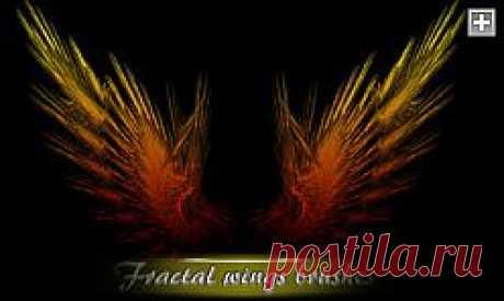 кисти для Фотошопа - Фрактальные крылья