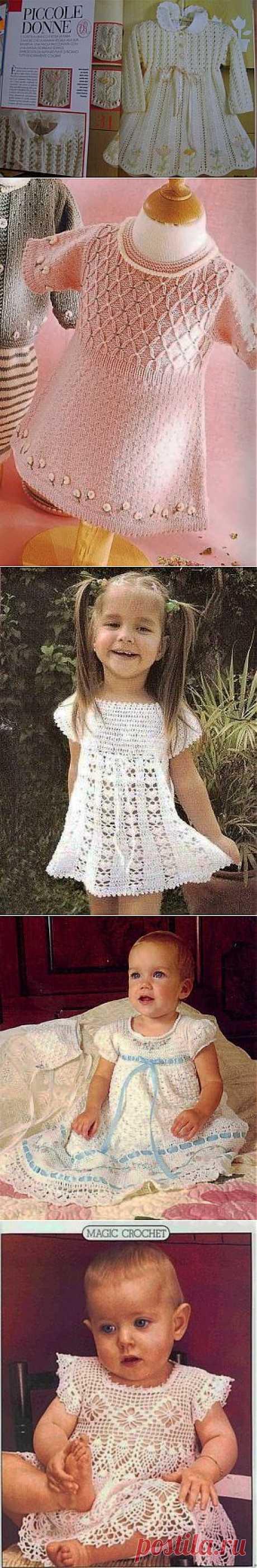 Вязаные платья для девочки.