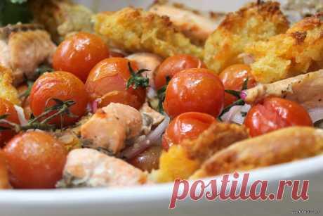 Рыба запечённая с овощами в итальянском стиле - Вторые блюда - Кулинарные рецепты ! - ФотоКулинария