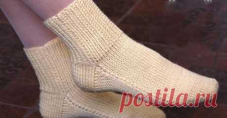 Вязание без затей: носки на двух спицах без швов  У меня получилось.