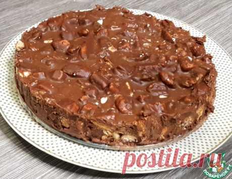 """Торт без выпечки """"Шоколадное безумие"""" Кулинарный рецепт"""