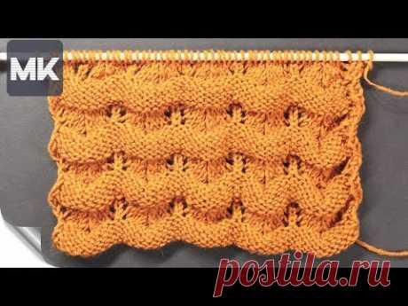 ОБЪЕМНЫЙ УЗОР ДЛЯ СВИТЕРА НА ОСЕНЬ-ЗИМУ / Подробный МК по вязанию узора для одежды и аксессуаров