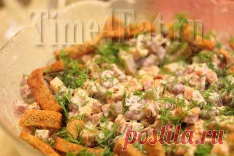 Немецкий салат с колбасой и фасолью | Пора перекусить!