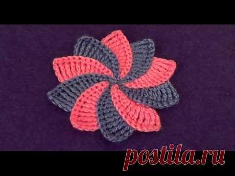 Цветок с разноцветными лепестками - Flower with multicolored petals