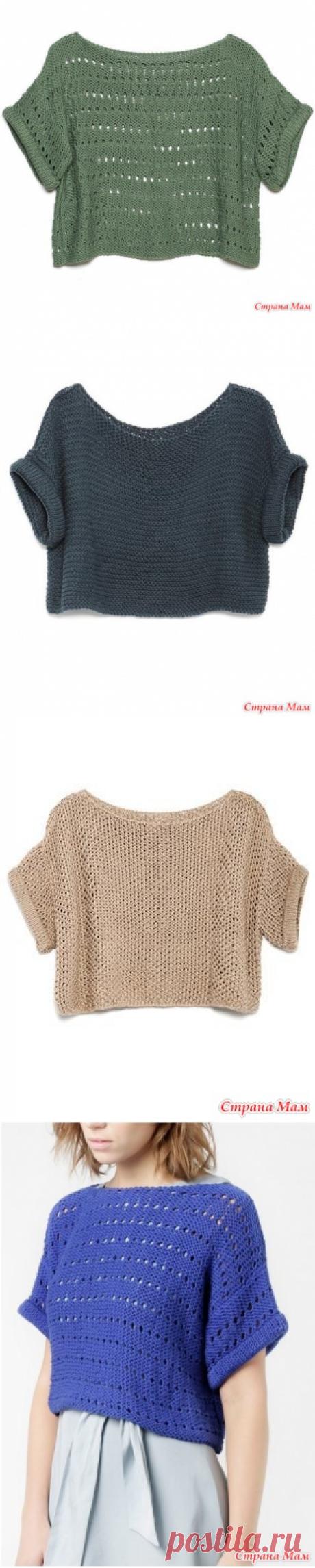 Вяжем вместе короткий свитер DIANA - Вяжем вместе он-лайн - Страна Мам