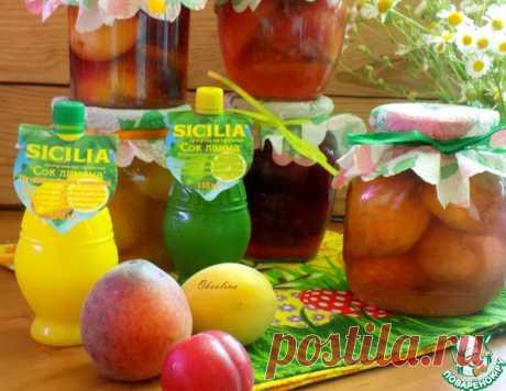 Фрукты в сиропе с лимонным соком – кулинарный рецепт