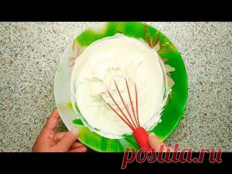 Густой крем для торта. Сметанный крем. - YouTube