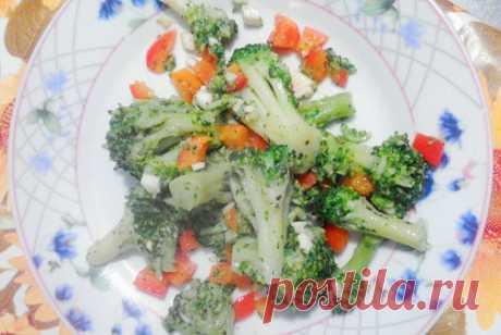 Пикантная брокколи со сладким перцем и чесноком рецепт – европейская кухня: закуски. «Еда»