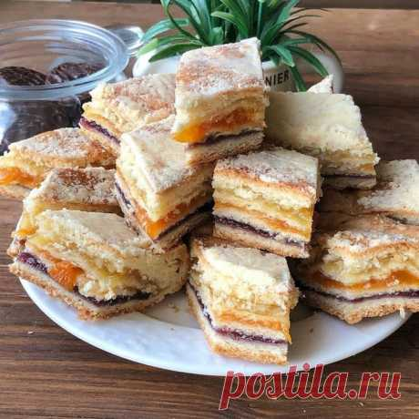 Кулинария>Татарский трехслойный пирог