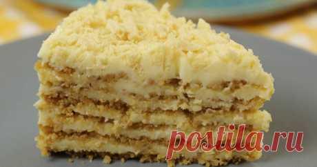 Потрясающий пломбирный торт без выпечки и печенья ...