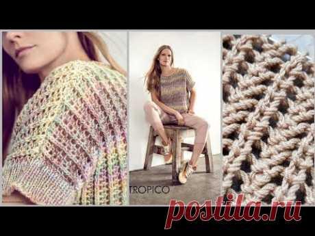 Разбираем узор для джемпера из журнала Filati 🚩 knitting pattern.