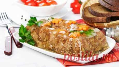 Янтарный мясной холодец Попробуйте приготовить холодец по нашему рецепту, чтобы он получился светлый с янтарным отливом!