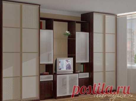 Шкаф купе со стенкой под телевизор в спальню или гостиную