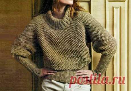 3 модных шикарных свитера, связанных спицами разными узорами   Идеи рукоделия   Яндекс Дзен