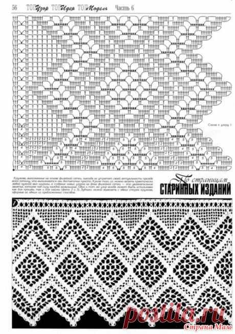 Филейная кайма - Филейное кружево - Страна Мам