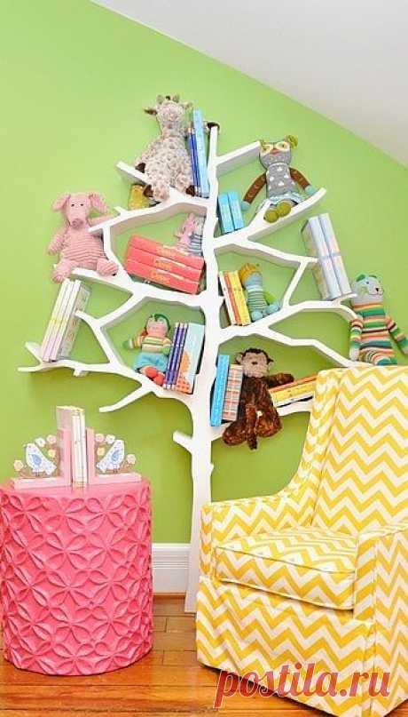 Полка - дерево / Детская комната / Модный сайт о стильной переделке одежды и интерьера