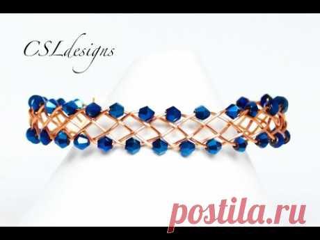 Edgy braided wirework bracelet