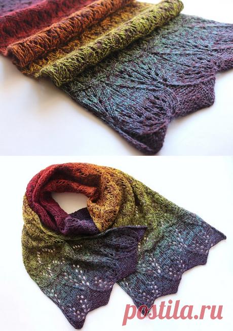 Ravelry: Rainbow Lace Scarf pattern by Daria Darovskikh
